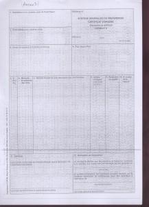 formule A ( systèmes generalise de preferences certificat d'origine - recto)